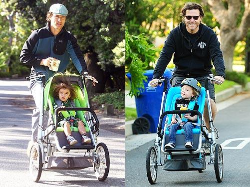 carucior-pentru-bebe-bicicleta pentru-parinte-taga-bike